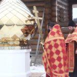 """""""27 ноября 2017 года, состоялось освящение креста и купола для строящегося храма в честь великомученика и победоносца Георгия с. Игошино Ермишинского района."""""""