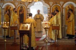 «7 марта 2021 г., Архиерейское Богослужение в Архангельском храме р.п.Ермишь.»